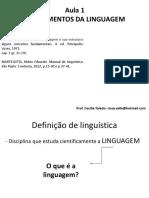 AULA 1- FUNDAMENTOS DA LINGUAGEM
