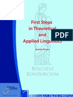 First Steps in Theoretical and Applied Linguistics