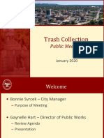 Trash Collection Meeting