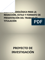 Estructura Proyecto de Investigación