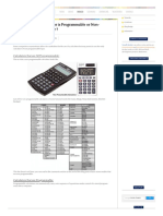 How to identify Calculator is Programmable or Non-Programmable Calculator _