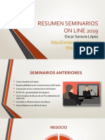 Resumen Seminarios On Line 2019