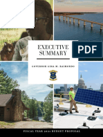 Executive Summary for Raimondo budget proposal.