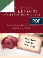 Lucado Life Lessons Christmas Devotional - Week 2