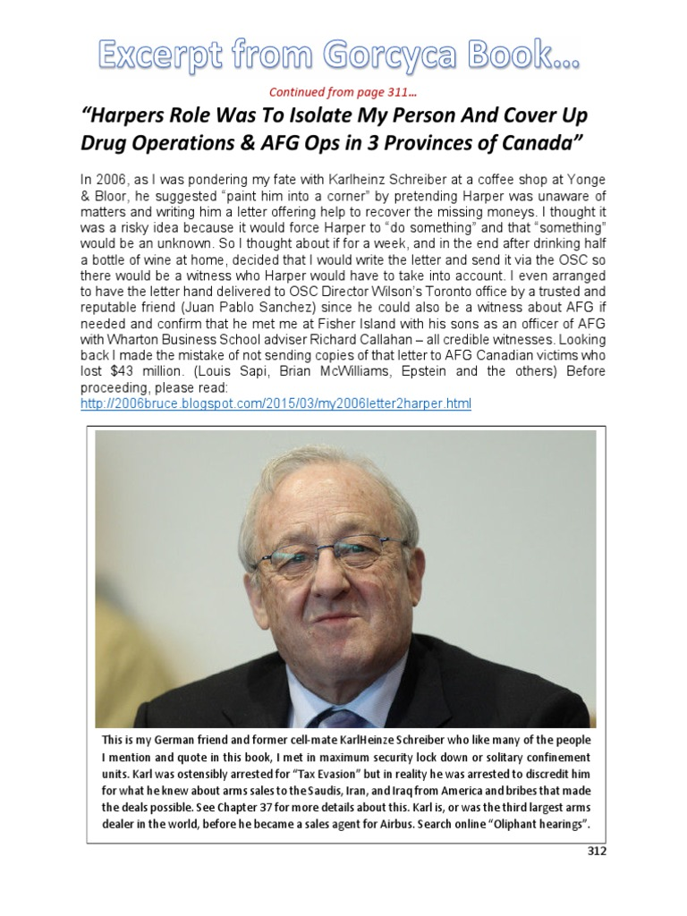 The Corruption, Cover-Ups and Criminal Collusion Between PM Stephen Harper & Jeb Bush allowed Corrupt FBI Terry Nelson To Smuggle More Than $1Billion Of Cocaine And Heroin Into Canada For 8 Years. Fortunes are stashed in Secret Panama Bank Accounts At