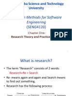 Research Methods Chapter One Lecture Notes -Part I UPdate