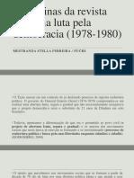 As páginas da revista Tição na luta pela democracia brasileira