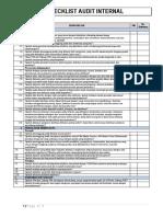CDAKB Checklist Internal Audit