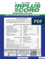 FEBRUARY 2020 Surplus Record Machinery & Equipment Directory