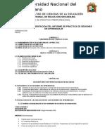 3. ESQUEMA DE INFORME  VII SEMESTRE 2019-1