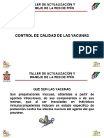 1. Control de calidad de las vacunas
