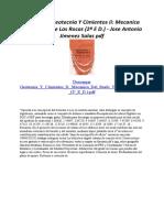 Geotecnia Y Cimientos Ii Mecanica Del Suelo Y De Las Rocas (2ª E D.)