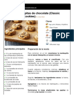 Galletas con pepitas de chocolate (Classic chocolate chip cookies)