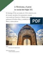 Revolución Mexicana descripta breve y concisa