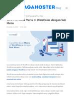 Cara Membuat Menu di WordPress dengan Sub Menu