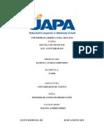 Tarea 6, Unidad VI, Informe de costo de Produccion