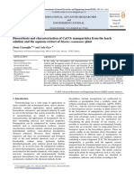 Biosynthesis and characterization of CaCO3 nanoparticles from the leach solution and the aqueous extract of Myrtus communis plant[#403345]-593425