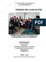PLAN CLUB LECTOR JCM 2019