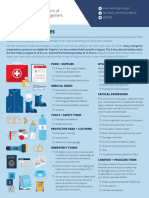 Emergency Kit One Sheet