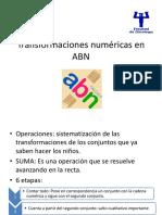 Transformaciones numéricas en ABN