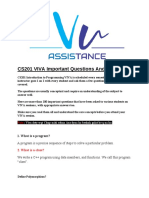 Cs201 Important 202 - Vu Assistance