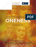 Conference on ONENESS Schedule i4