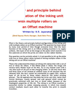 Theory of Multiple Rollers on Offset Machine -  An indepth analysis