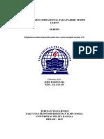 Skripsi Manajemen operasional Pabrik Tempe1