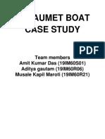 CATAUMET BOAT CASE STUDY