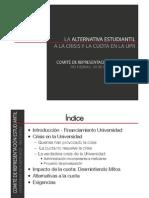 La alternativa estudiantil a la crisis y la cuota en la UPR
