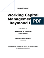Working Capital Management at Raymond Ltd.