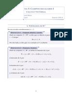 Resumen Cálculo Vectorial - Semana 05