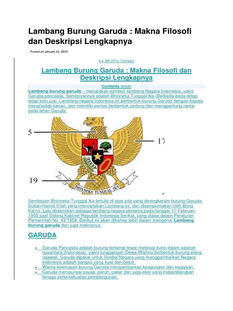 Sebagai Lambang Negara Burung Garuda Asli