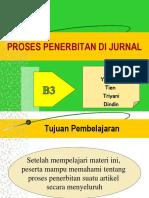 PROSES PENERBITAN DI JURNAL (B3)