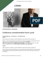 Kevin Lynch Memorial Lecture _ LA puissance du réseau power