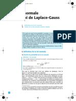 Loi normale ou loi de Laplace-Gauss