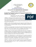 Barangay Ordinance Number 11 Maternal & Neonatal Care Ordinance of Barangay Gubatan