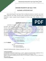 Raport activitate ABAAV - 2015