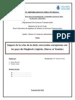 Impact de La Crise de La Dette Souveraine Européenne Sur Les Pays Du Maghreb (Algérie, Maroc Et Tunisie)