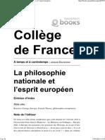 Bouveresse_2011_philosophie Nationale Et Esprit Européen
