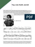 5 Ways to Play Like Keith Jarrett