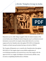 Khajuraho-The Erotic Temples Group in India