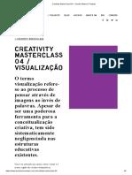 Creativity MasterClass 04 — Charles Watson _ Projects