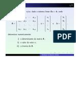 Sistema de equações lineares - Calculo Numérico