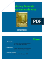 Clase 1. Presentación e imágenes. Curaduría y Montaje Inicial