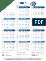 Calendário 2020 Quinta do Jardim & Mirtibeira