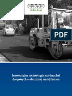 Innowacyjna technologia nawierzchni drogowych o obnizonej emisji halasu
