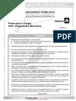 Prova Agente de Fomento - Engenheiro Mecânico - AFPR 2004