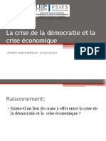 La crise de la démocratie et la crise