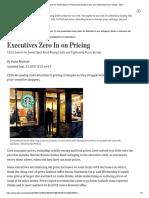 Executives zero in on price